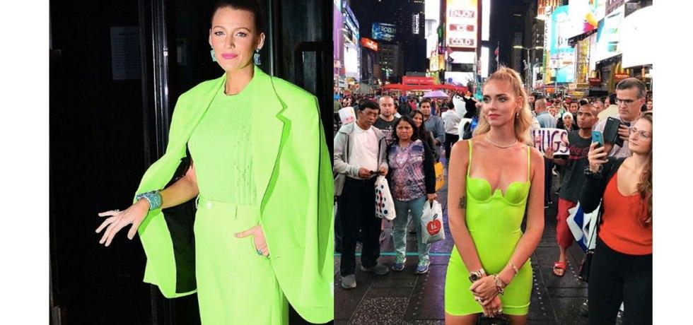 12 prendas low cost verde flúor | Chiara Ferragni y Blake Lively vestidas de verde flúor